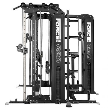 Force USA G20 Station de Musculation , Smith Machine, Rack à Squat, Vertical Leg Press, Lat Pull Down et Low Row