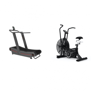Titanium Strength Pack Airbike + Curved Treadmill