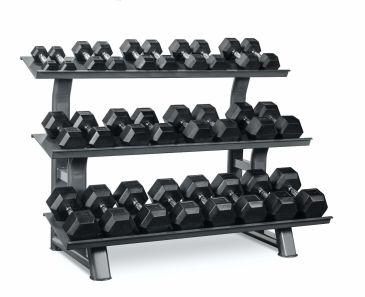 Titanium Strength Hex Dumbbell Set 2- 30Kg + Rack