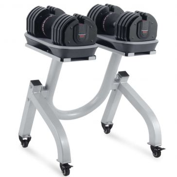 Titanium Strength Adjustable Dummbells 2-36 kg + Rack