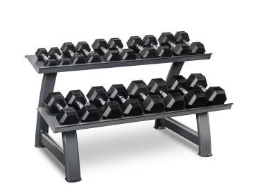 Titanium Strength Hex Dumbbell Set 2- 20Kg + Rack