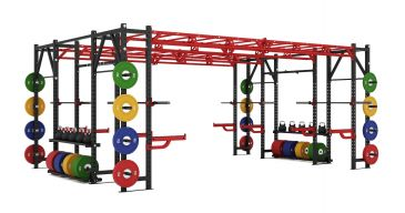 Titanium Strength Comercial Heavy Athletic Bridge Rack - X Line, Discs, Olympic, Home Gym, Workout, Crossfit, Fitness