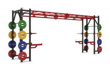 Titanium Strength Commercial Athletic Bridge Rack - X Line, Discs, Olympic, Home Gym, Workout, Crossfit, Fitness