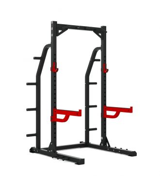 Titanium Strength Commercial HD Half Rack - X Line Squat, Rack, Press, Shoulder, Chest, Home Workout, Home Gym, Functional, Bar, Fitness, Crossfit
