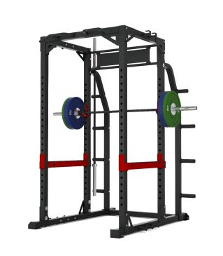 Titanium Strength Commercial HD Heavy Duty Power Rack - X Line, Squat, Rack, Press, Shoulder, Chest, Home Workout, Home Gym, Functional, Bar, Fitness, Crossfit