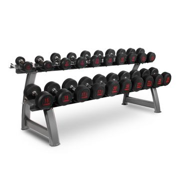 Titanium Strength Dumbbells Set 2,5- 25Kg + Rack, , Workout, Home Gym, Fitness, Crossfit, Chest, Shoulders, Biceps, Triceps, Back, Functional